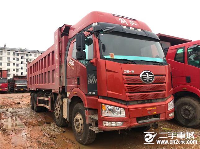 一汽解放 J6P 500马力8X4自卸车