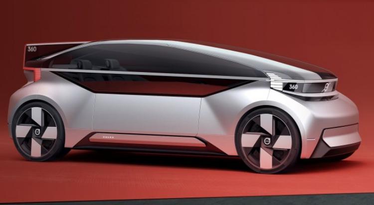 无人驾驶电动汽车 沃尔沃360c官图发布