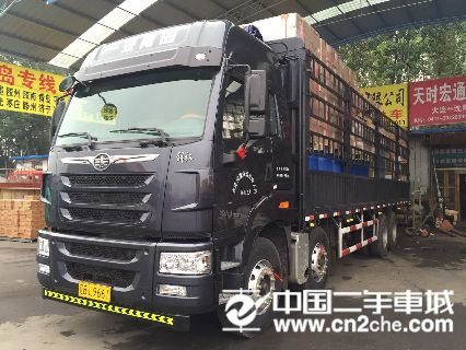 青岛(解放) 途V 重卡320马力 4X2 9.6米厢式载货车