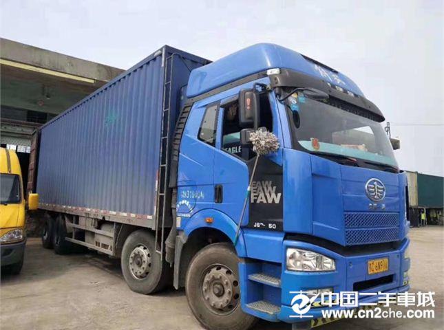 一汽解放 J6P 350动力8X4厢式货车