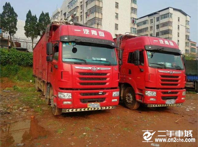 青岛解放 途V 重卡 350马力 8X4 载货车?#30528;? title=