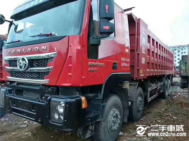 上汽红岩 杰狮 C100重卡 430马力 8X4 7.8米自卸车(高顶)(CQ3315HXVG426L)