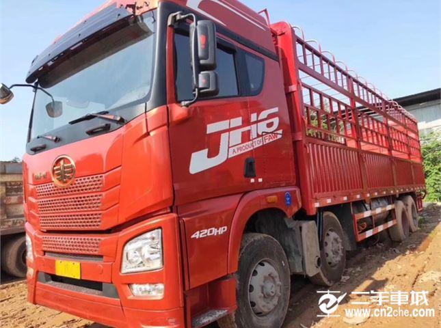 青岛解放 JH6 JH6重卡 420马力 8X4 9.5米栏板载货车