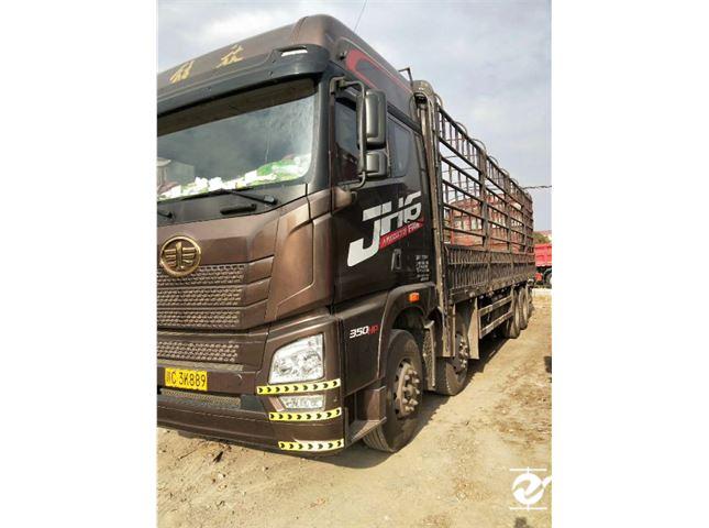 青島解放 JH6 JH6重卡 350馬力 8X4 9.5米倉柵式載貨車