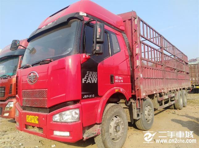 一汽解放 J6P 重卡 310馬力 8X4 9.5米欄板載貨車(CA1310P66K2L7T4E4)
