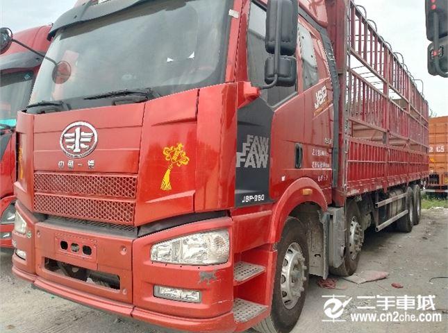 一汽解放 J6P 重卡 350馬力 8×4 倉柵式 排半 載貨車(CA5310CCYP66K2L7T4E5)