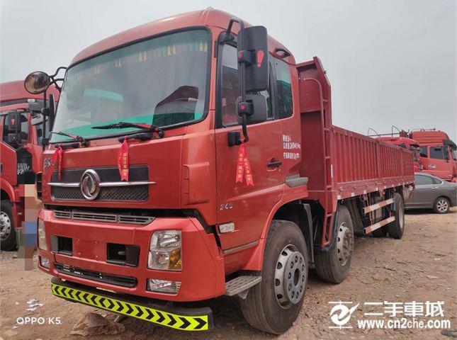 东风 天锦 245马力7.8米前四后四平板载货车