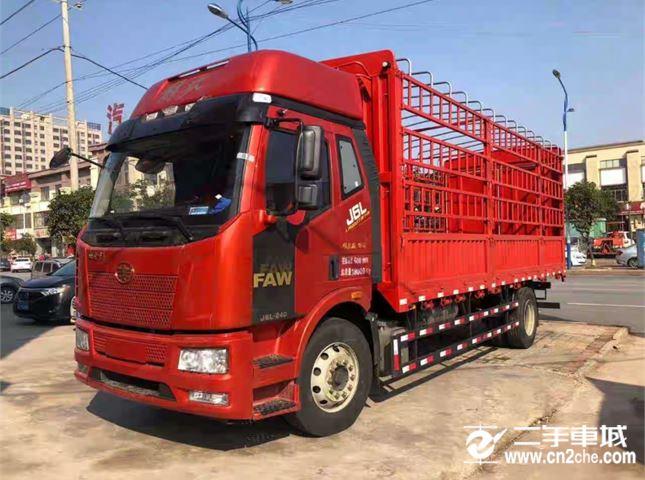 一汽解放 J6L 载货车 中卡领航版240马力4X2 6.75米栏板载货车