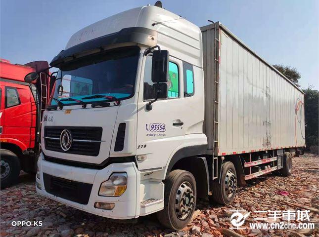 东风 天龙 270马力9.6米前四后四厢式载货车