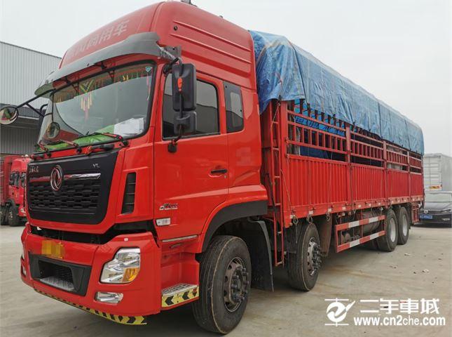 东风 天龙VL 重卡420马力8X4 9.6米仓栅式载货车