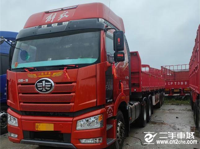 一汽解放 J6P 重卡 领航版复合型 460马力 6X4牵引车(CA4250P66K24T1A1E5)