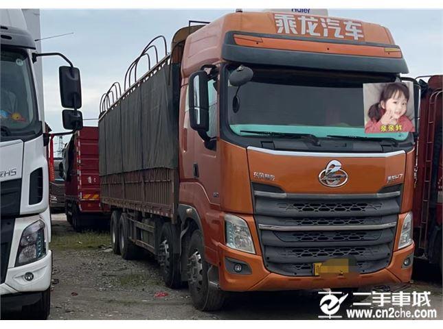 东风柳汽 乘龙H7 H7重卡 350马力 8X4 9.6米排半仓栅式