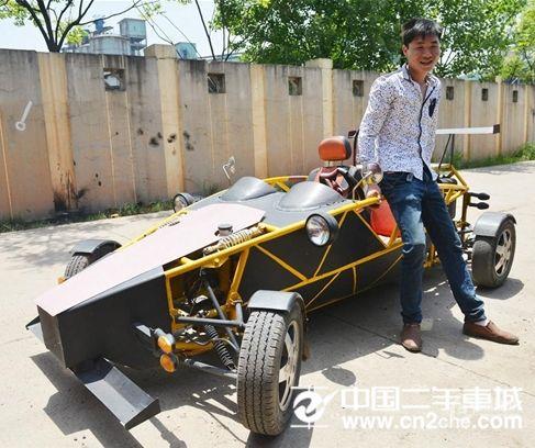 农民造出原子跑车