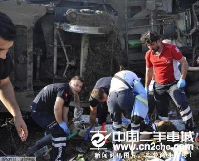 大雨致土耳其火车脱轨 基土塌陷致24死几百伤