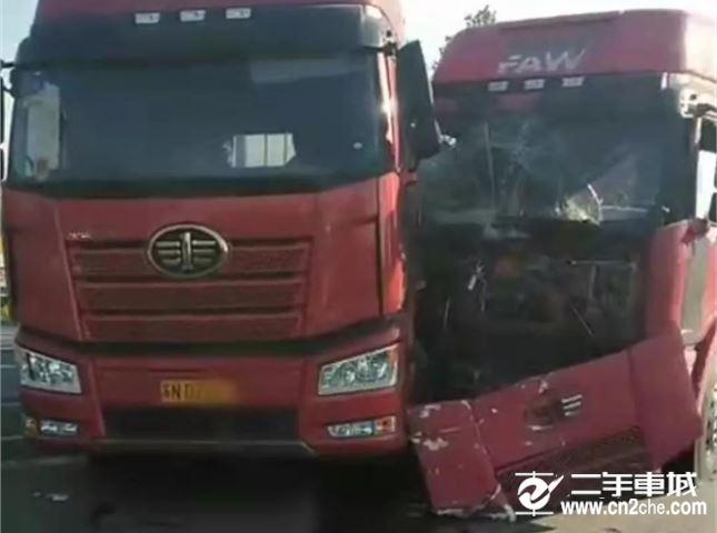 江苏宿迁两货车相撞车祸