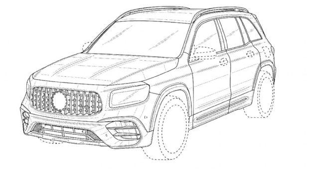 《【天富娱乐登陆app】新款奔驰AMG GLB 45设计图展示 预计2021年正式亮相》