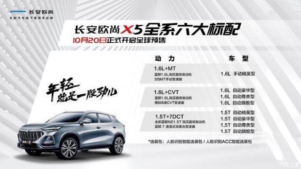 长安欧尚X5汽车参数分享 两款动力8款车型
