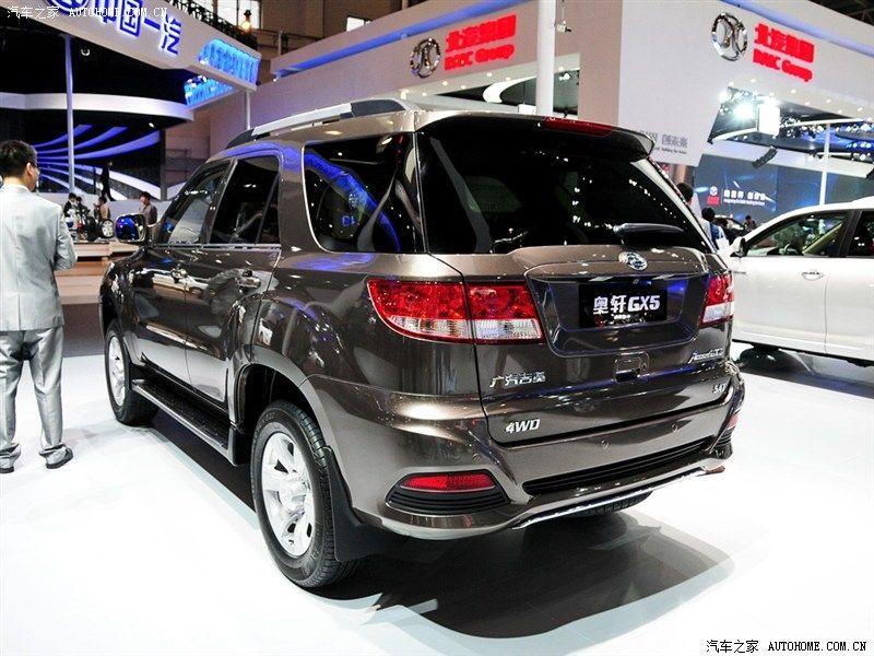 广汽吉奥 奥轩GX5 2012款 2.5L 手动 分时四驱 天窗版 柴油