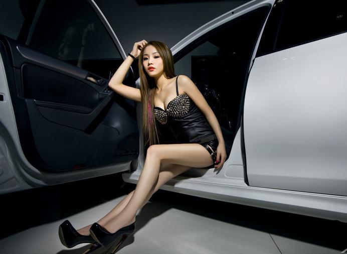 香车美女|汽车美女图库 明星名模