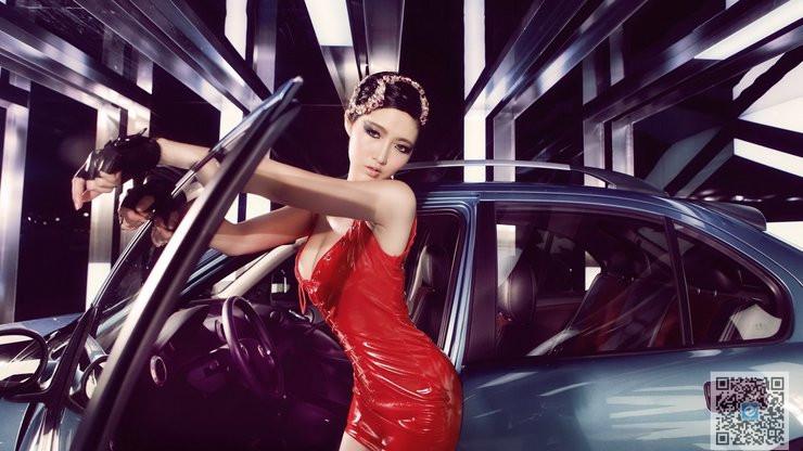 妖娆明星车模分享 红色气质高贵美女车模
