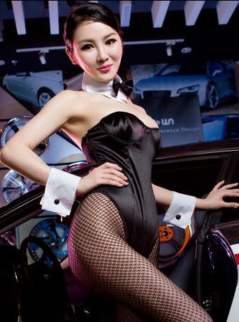 性感丝袜兔女郎美女 俏皮可爱美女车模