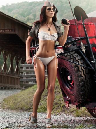 各职业欧美美女车模 各种比基尼性感展示