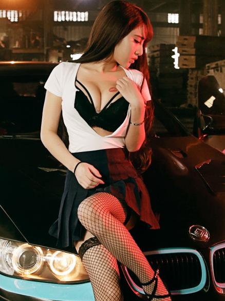 丝袜美腿美女车模 都市制服气质丽人