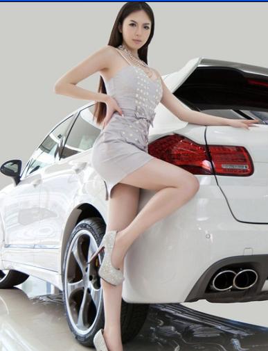 贵族美女车模 性感美丽气质佳