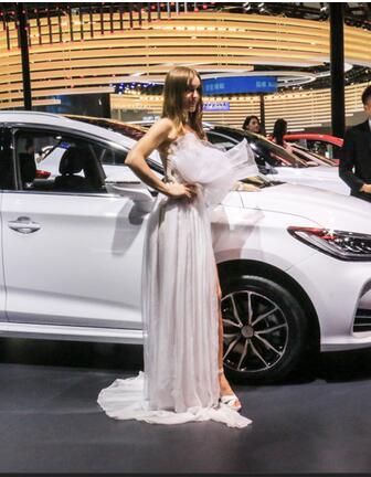 2017广州车展上的气质美女车模