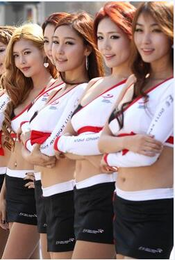 韩国赛车女郎  个个都是高颜值大长腿