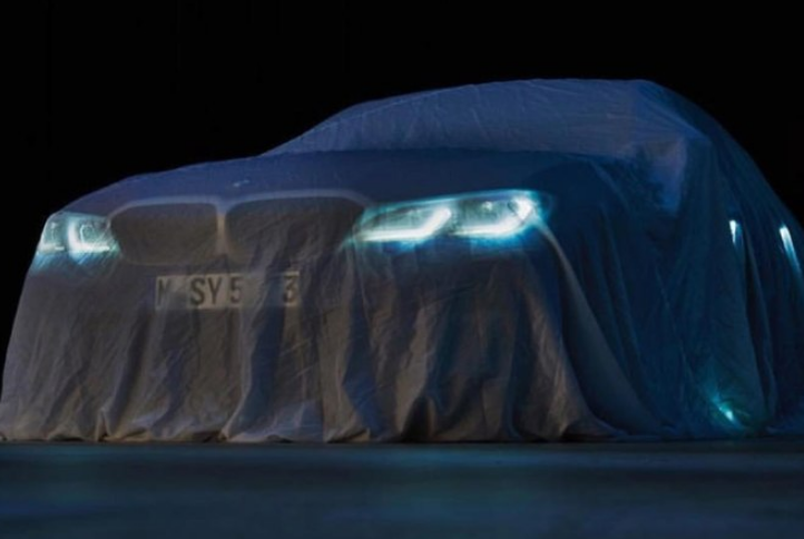 宝马新一代3系预告图发布  或巴黎车展全球首发