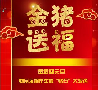 """2019金猪迎元旦 财富永相伴---二手车城""""钻石""""大派送!"""