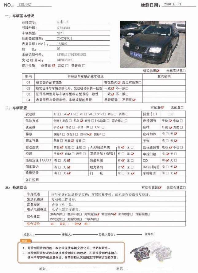 二手车评估报告完整版 内容/时效性/重要性等介绍