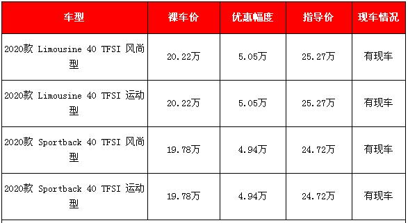 2020款购奥迪A3新车降价 北京购车让利4.94到5.05万元