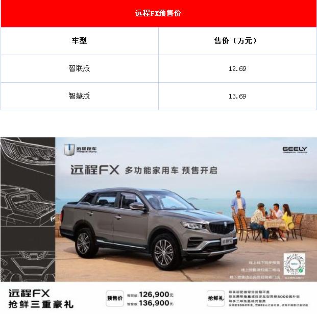 远程FX新车预定了 马上购车有优惠