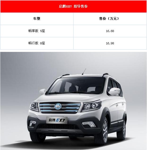 启腾EX7汽车报价及图片 提供5座版与8座版两种