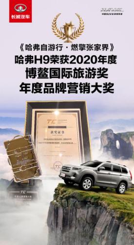 实力跨界出圈! 哈弗H9荣获中国·博鳌2020年度品牌营销奖
