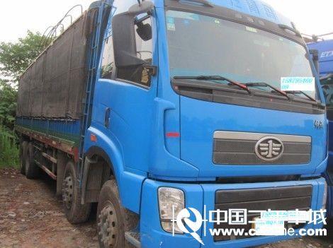 江西宜春2012款一汽解放奥威(J5P)载货车重卡280马力8X4前四后八仓栅(锡柴)二手车