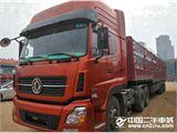 东风 天龙 国四二手二拖三半挂车420马力雷诺动力,十三米高栏高低板