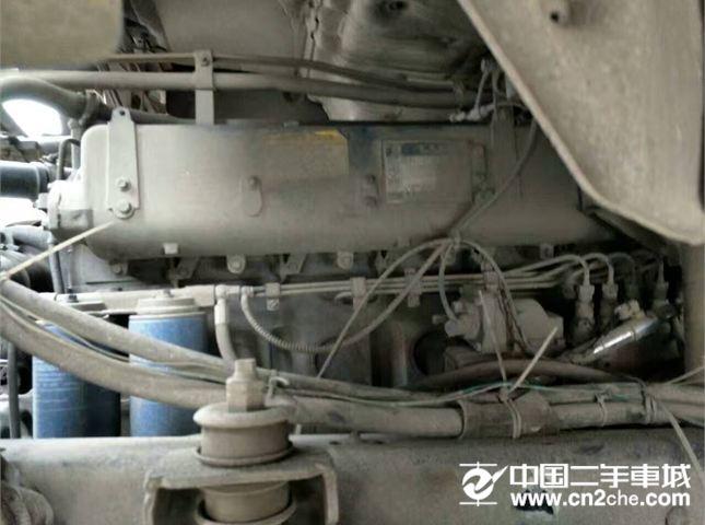 福田 欧曼 二手二拖三牵引车福田欧曼轻量化380马力,12速,13米高栏高低板,