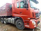 东风 天龙 东风商用车天龙双拖高低栏半挂车,雷诺发动机,420马力,45