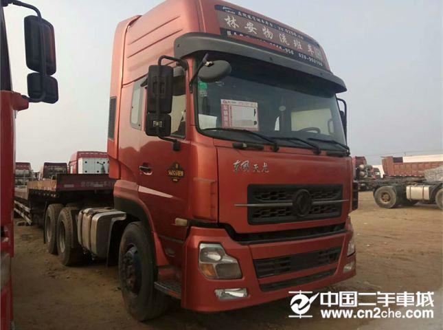 东风天锦低价出售二手半挂车东风天龙12年双驱375马力,二手牵引车,价格6.00万
