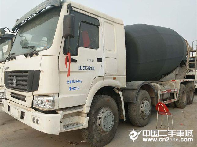 中国重汽搅拌车出售13年二手豪沃375马力大20方搅拌车价格25.50万