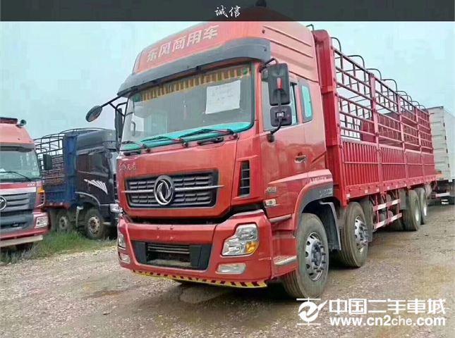 东风 天龙 重卡385马力前四后八仓栅货车