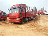 一汽解放 J6P 载货车 重卡 420马力 8×4 仓栅式 排半 载货