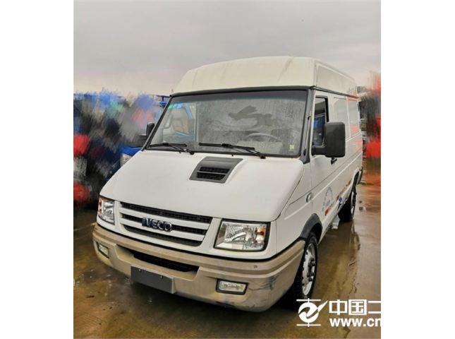 江铃经典全顺0.749T依维柯3座封闭货车白色价格2.80万