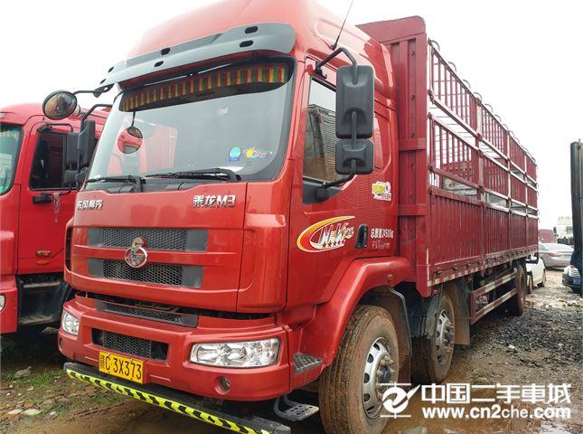 东风柳汽 新系列M3 载货车 中卡 220马力 6X2 9.6米排半仓栅式载货车