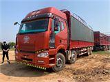 一汽解放 J6P 350馬力 8X4 9.6米倉柵式載貨車