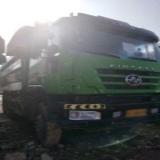 上汽红岩 杰狮 杰狮后八轮环保车,1.5米高栏板,5.8米货箱