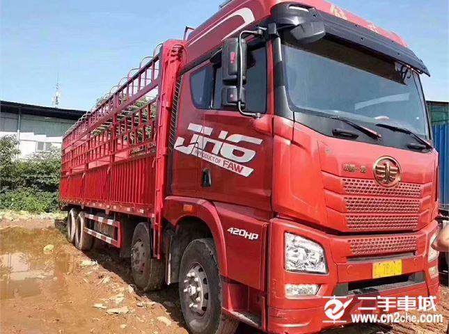 青岛解放 JH6 载货车 JH6重卡 420马力 8X4 9.5米仓栅式载货车